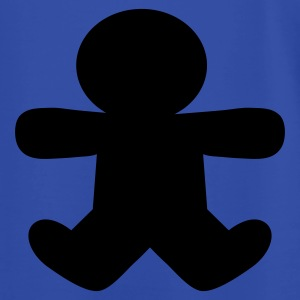 Royal blue gingerbread man shape Hoodies - Men's T-Shirt by American Apparel