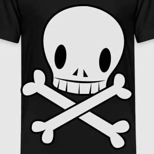 Navy crossbones funky with wicked EMO skull cool Kids' Shirts - Toddler Premium T-Shirt