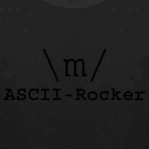Black ASCII-Rocker Hoodies - Men's Premium Tank