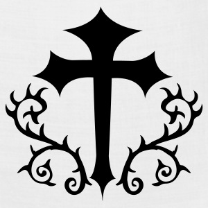 White gothic cross with thorns Polo Shirts - Bandana