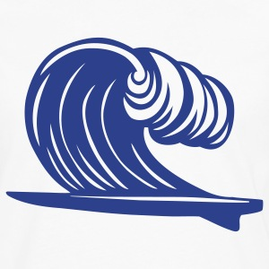 Surfboard Wave 1c - Men's Premium Long Sleeve T-Shirt