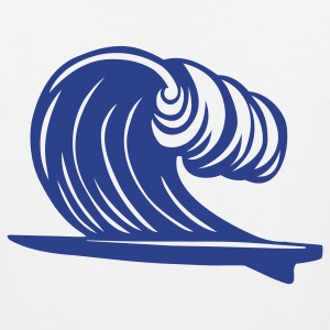 Surfboard Wave 1c - Men's Premium Tank