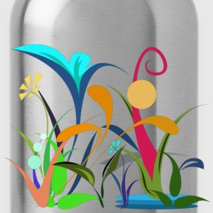 Children's Tee   Flowers - Water Bottle