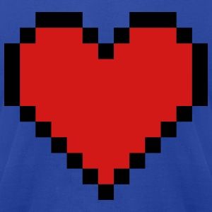 Royal blue Pixel Heart Hoodies - Men's T-Shirt by American Apparel