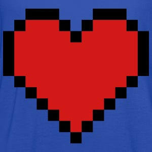 Royal blue Pixel Heart Hoodies - Women's Flowy Tank Top by Bella