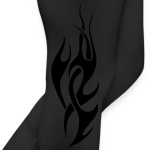 Black tribal flame T-Shirts - Leggings