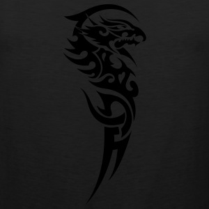 Black tribal dragon T-Shirts - Men's Premium Tank