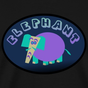 Light pink Colorful Elephant On Oval Bkgrd With Shading--DIGITAL DIRECT ONLY Long Sleeve Shirts - Men's Premium T-Shirt
