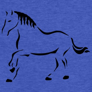 Royal blue Horse Art Sweatshirts - Fitted Cotton/Poly T-Shirt by Next Level
