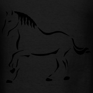 Black Horse Art Bags  - Men's T-Shirt