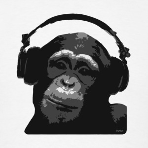 White DJ MONKEY by wam Hoodies - Men's T-Shirt