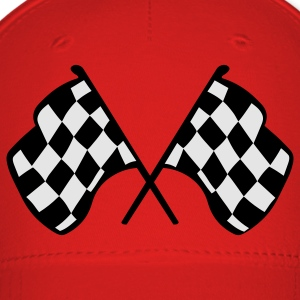 Red Checkered Racing Flags T-Shirts - Baseball Cap