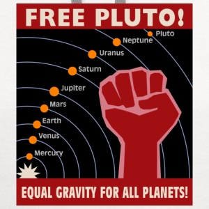 White Free Pluto! Equal Gravity For All Planets! Kids & Baby - Contrast Hoodie