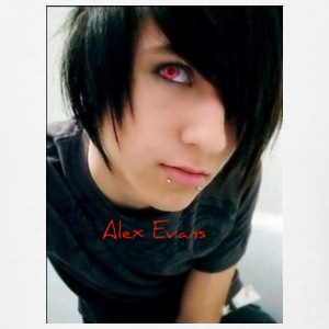 White alex_evans_emo_boy2 Buttons - Men's T-Shirt
