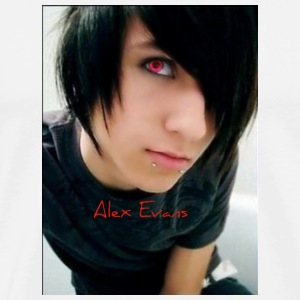 White alex_evans_emo_boy2 Buttons - Men's Premium T-Shirt