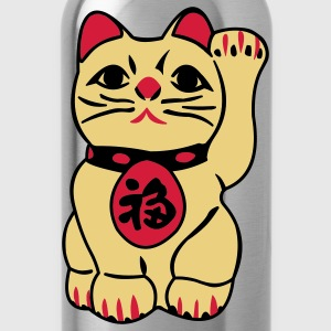 Brown good fortune cat T-Shirts - Water Bottle