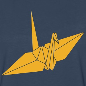 Navy origami Kids' Shirts - Men's Premium Long Sleeve T-Shirt