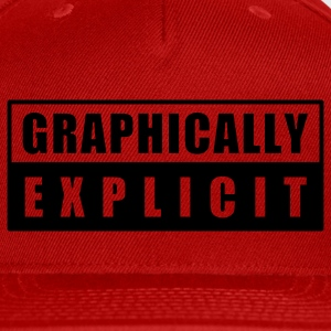 Red graphically explicit T-Shirts - Snap-back Baseball Cap