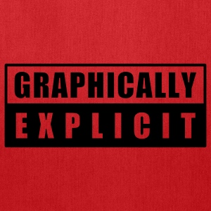 Red graphically explicit T-Shirts - Tote Bag