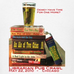 White Librarian Pub Crawl Buttons - Men's T-Shirt