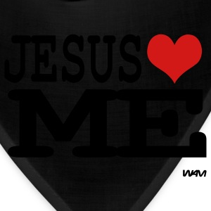 Black jesus loves me Women's T-Shirts - Bandana