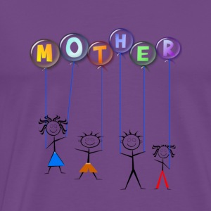 Mother's Day Balloon - Men's Premium T-Shirt