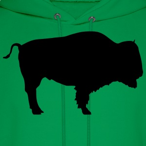 Forest green bison T-Shirts - Men's Hoodie
