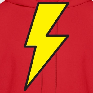 Red lightning bolt T-Shirts - Men's Hoodie