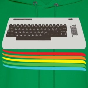 Kelly green keyboard (commodore vic 20) T-Shirts - Men's Hoodie