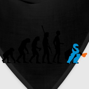 Light blue evolution_baseball_catcher_3c Women's T-Shirts - Bandana
