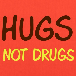 Brown hugs not drugs T-Shirts - Tote Bag