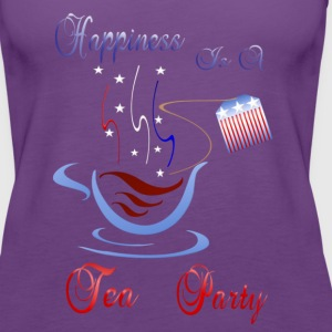 Happiness Is A Tea Party - Women's Premium Tank Top