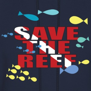 Navy Save The Reef Women's T-Shirts - Men's Hoodie