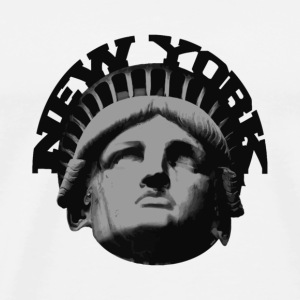 White new york statue of liberty Buttons - Men's Premium T-Shirt
