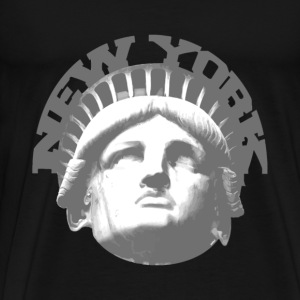 Black new york statue of liberty Hoodies - Men's Premium T-Shirt