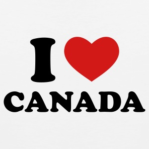 White I Love Canada Women's T-Shirts - Men's Premium Tank