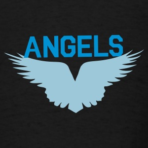 Black angels with beautiful wings flying Bags  - Men's T-Shirt
