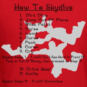 Red How To Skydive T-Shirts - Crewneck Sweatshirt