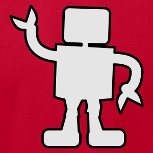 Red robot outline two color sabotage Long Sleeve Shirts - Men's T-Shirt by American Apparel