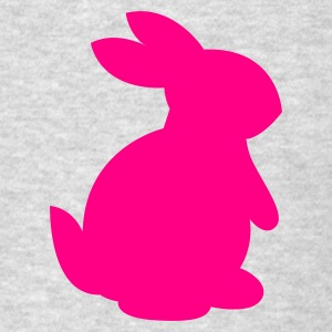 Heather grey cute rabbit shape right Long Sleeve Shirts - Men's T-Shirt