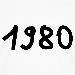 White 1980 Women's T-Shirts - Men's Premium Long Sleeve T-Shirt