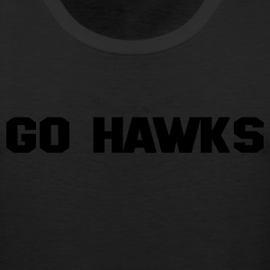Black GO HAWKS T-Shirts - Men's Premium Tank