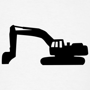White Digger - Excavator Buttons - Men's T-Shirt
