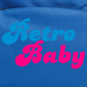 Turquoise retro baby in funky cute font Kids' Shirts - Computer Backpack