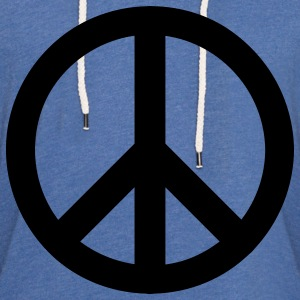 Spider baby blue peace sign T-Shirts - Unisex Lightweight Terry Hoodie
