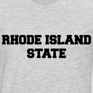 Heather grey rhode island state Women's T-Shirts - Men's Premium Long Sleeve T-Shirt