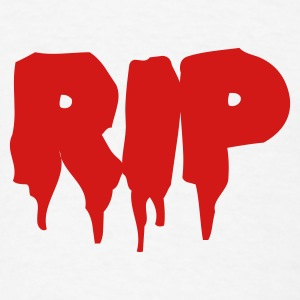 White RIP in BLOOD Baby Body - Men's T-Shirt