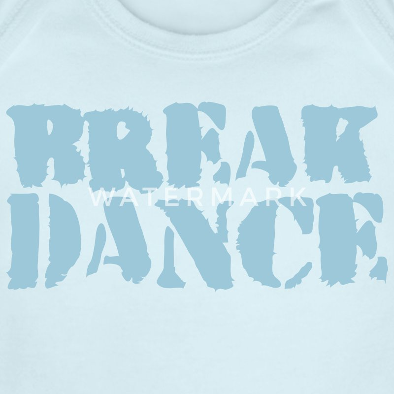 Sky blue BREAK DANCE GRAFFITI style Baby Body - Short Sleeve Baby Bodysuit
