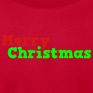 Red merry christmas in comic Baby Body - Men's T-Shirt by American Apparel