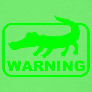 Mint green aligator crocodile warning Baby Body - Men's T-Shirt